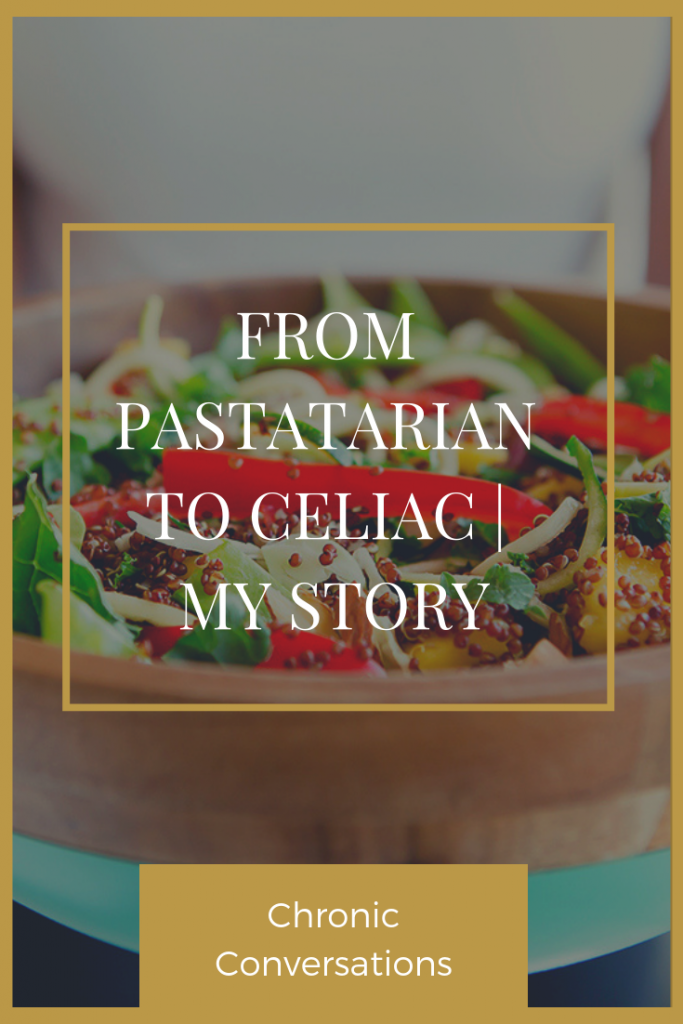 I've been a vegetarian since I was a kid, but I was always called a pastatarian. Bread, pasta, and all things gluten-containing were my life. Then I was diagnosed with Celiac.